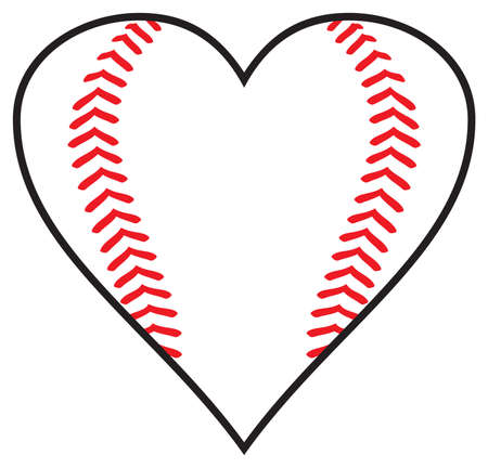 Baseball heart design vector illustration
