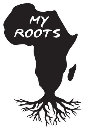 Africa map - my roots (black history design)