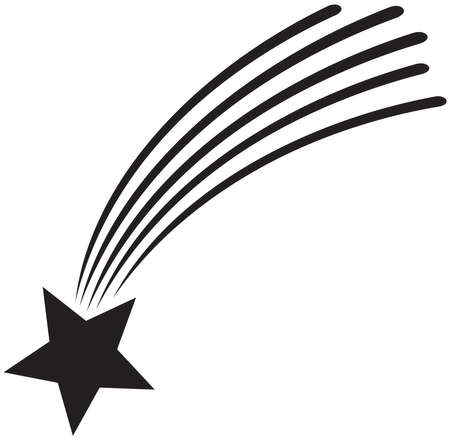 Falling or shooting star vector