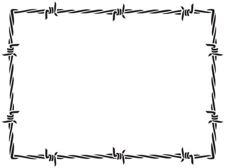 Barbed wire frame (border) vector 矢量图像