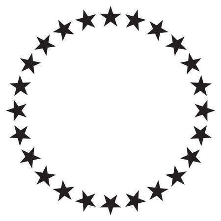Stars in circle vector icon design 矢量图像