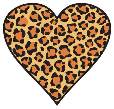 Leopard heart skin background (pattern)