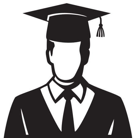 Student graduated illustration vector icon