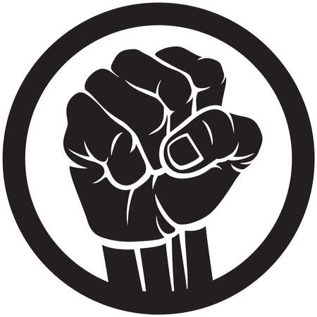 Fist icon symbol vector design