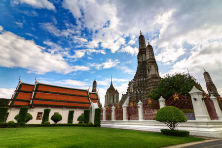Temple Wat Arun in Bangkok in right side photo