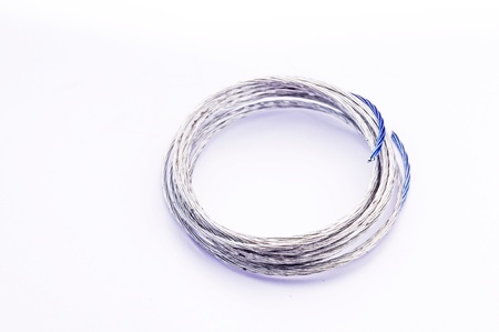 A cable wire isolated on white
