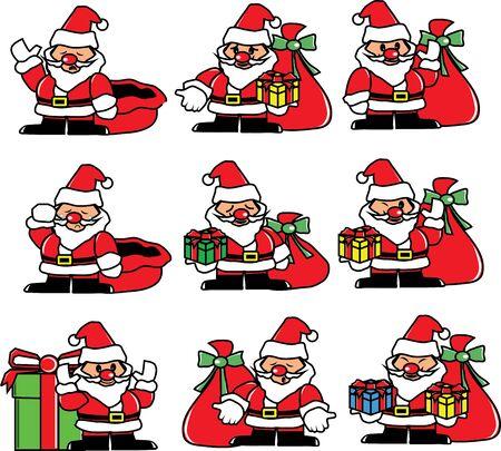 Santa emotion, happy, sad, cry