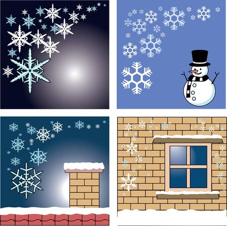 winter card and background template  Illustration