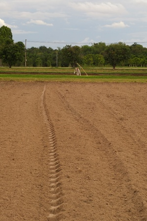 agricultural area: plow soil was prepared in the agricultural area