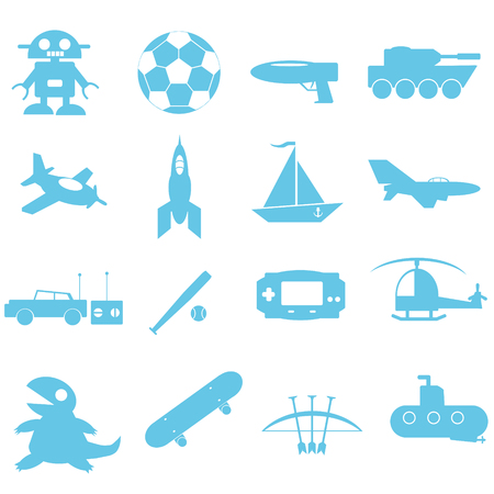 Toys for boy icon on white background Vector