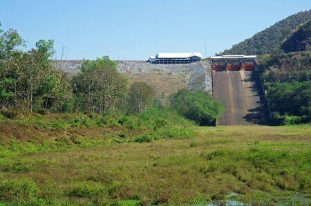 spillway of dam in Thailand