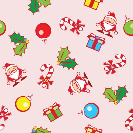 cute graphic: seamless background of Christmas with cute graphic