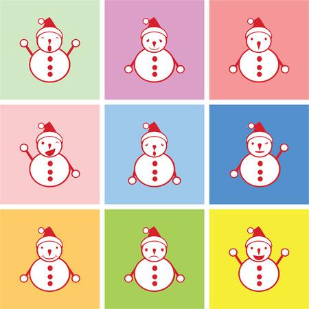 happy sad: pupazzo di neve grafico con emozioni felici, tristi e noiosi vettore