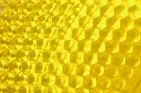 glass texture forming with hexagon cells