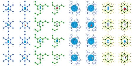 bureta: sencilla de artículos de vidrio en instrumentos de laboratorio de química en el medio del concepto de estructura molecular química