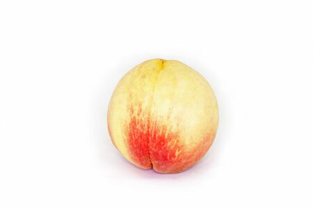 Peach fruit on white background