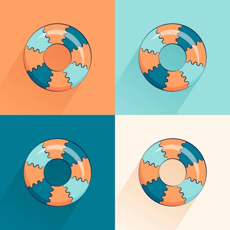 Seamless summer vector pattern. Beautiful background with bouncy ball and a circle.