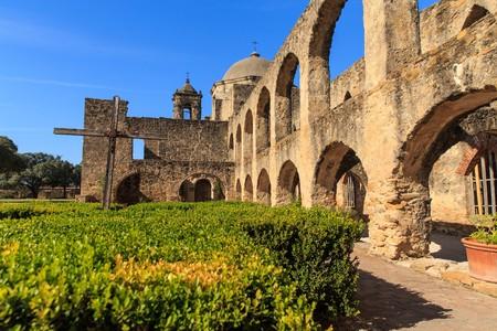 美しい冬の日ミッション サンホセ サン ・ アントニオ、テキサス、米国内での探索の歴史
