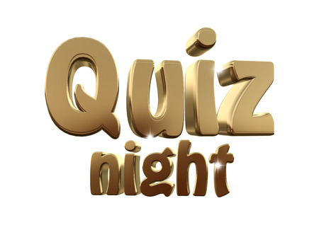 Quiz Night 3d tekst Gold