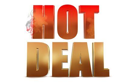 Hot Deal Text Stock fotó