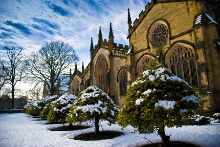 one of englands biggest churches - with 5 aisles, only two wings shy of being a cathedral Stock Photo - 19266288