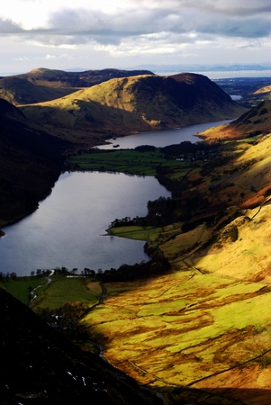 view of lakes from Buttermere, Lake District Stock Photo - 19265418