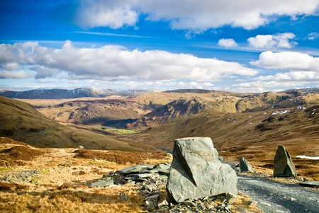 lake district: mountain view from Buttermere, lake district Stock Photo