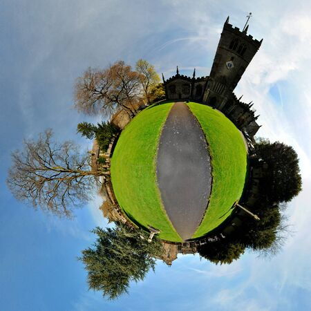 360 panoramic of church yard on a sunny day Stock Photo - 19436498