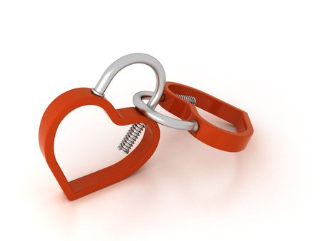 chrom: two heart shaped padlocks connected