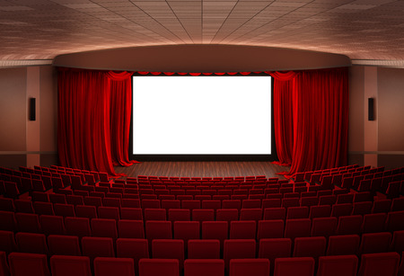 spot lit: Cinema screen