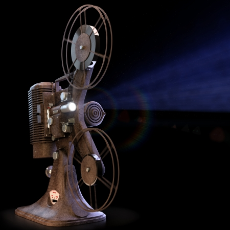 vintage projector  Cg render photo