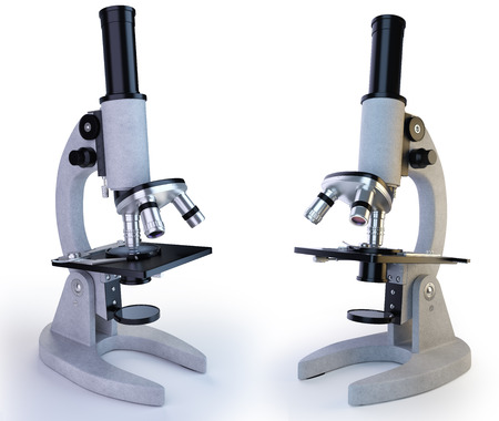 high scale magnification: Microscope Stock Photo