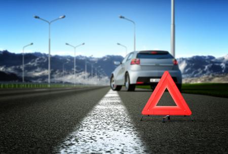 broken car: A car breakdown. Selective focus Stock Photo