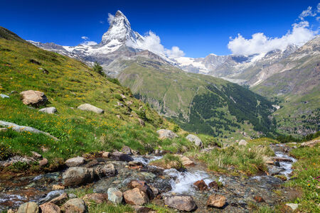 pyramid peak: Matterhorn, Switzerland