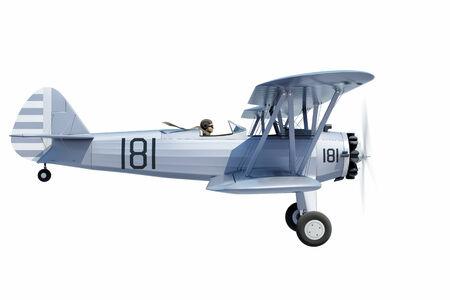 biplane: side view of a biplane