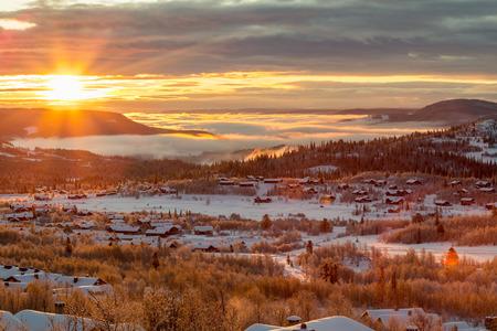 Norway in winter. photo