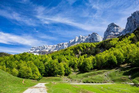 Achar de Alano. Pyrenees mountains, Spain.