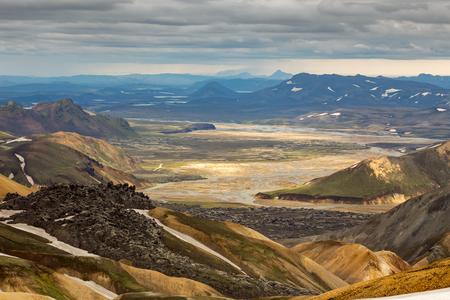 Iceland landscape. landmannalaugar
