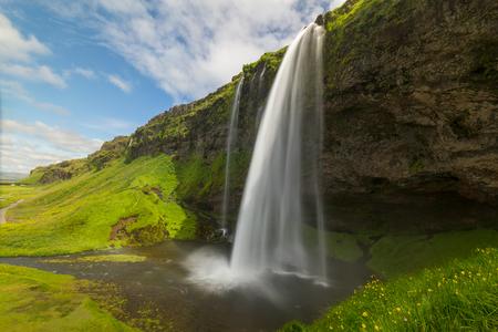 Icelandic waterfall Seljalandsfoss Stock Photo