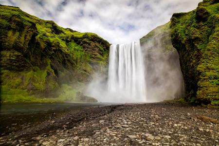Skogafoss waterfall. Iceland.