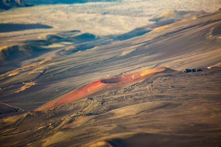 Iceland volcano. Bird eye view. Stock Photo