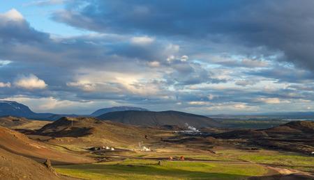 Icelandic landscapes. Sunset.