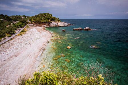 Greece seascape, Pelion, Greece Stock Photo