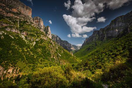 Canyon Vikos Gorge, Greece Stock Photo