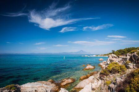 Beautiful beach on the east coast of Sithonia on Halkidiki, Gree