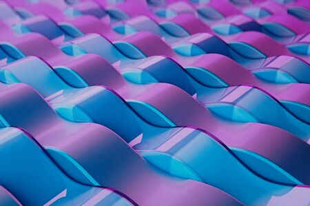 Abstract Wave Pattern. Pink and blue wavy background texture.