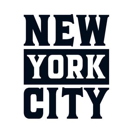New york city. Stylish Hand drawn typography poster. Premium Vector