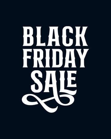 Black friday sale. Hand drawn typography poster design. Premium Vector.