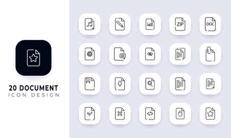 Line art incomplete communication icon pack. In this pack incorporate with twenty different communication icon.