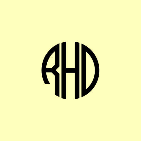 Creative Rounded Initial Letters RHD Logo. It will be suitable for which company or brand name start those initial. Logó